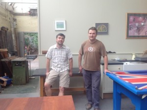 Ben and Tom in Slate Furniture Workshop