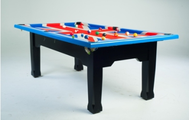 Bespoke Union Jack Pool Table