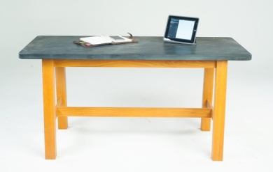 Compact reclaimed slate desk