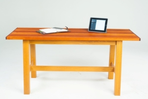 Compact reclaimed timber top desk