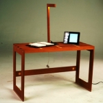 Designer desk with light