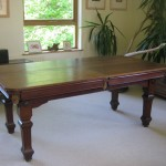 Restored snooker dining table