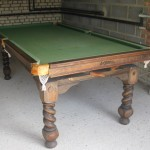Unrestored snooker table