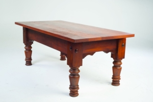 Dining room pool table with wood top