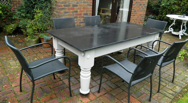 Outdoor Slate Table By Slate Furniture Works