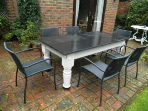 Outdoor Slate Table and chairs
