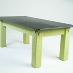 Slate games room table in green