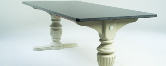 Twin Pedestal Style Slate Refectory Table